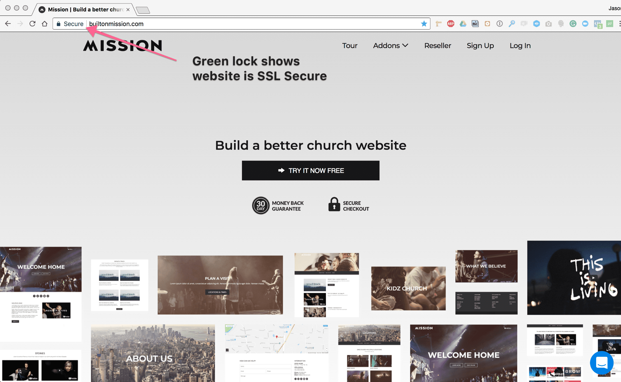 Setting up SSL on your website