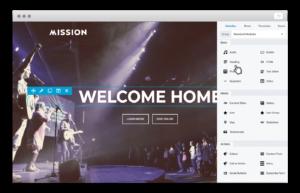 Customizable website Builders for church's website