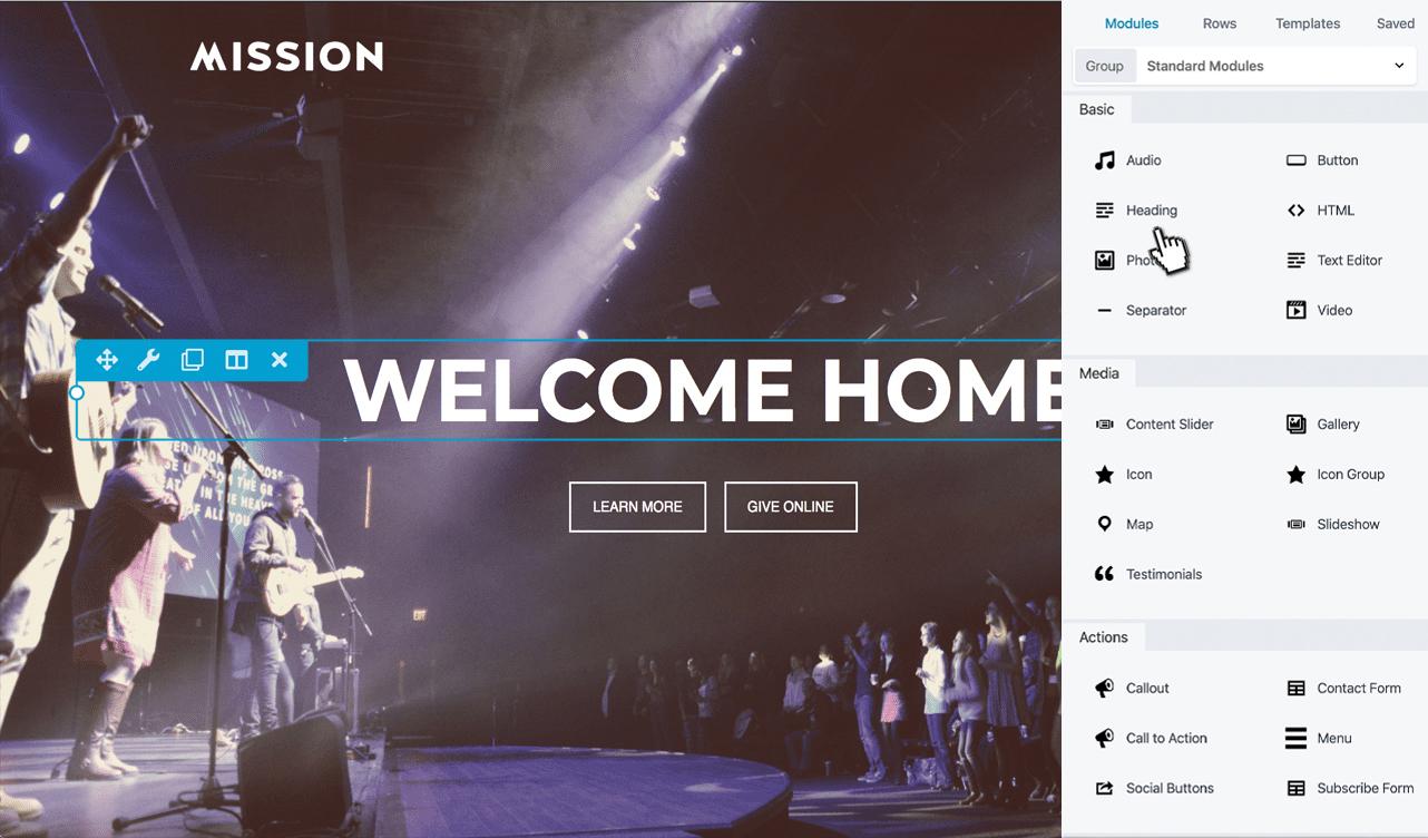 slideout-church-website-builder